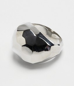 FINAL SALE Faceted Metal Ring