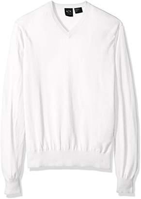 Armani Exchange A|X Men's Ls V Neck Sweater Knit