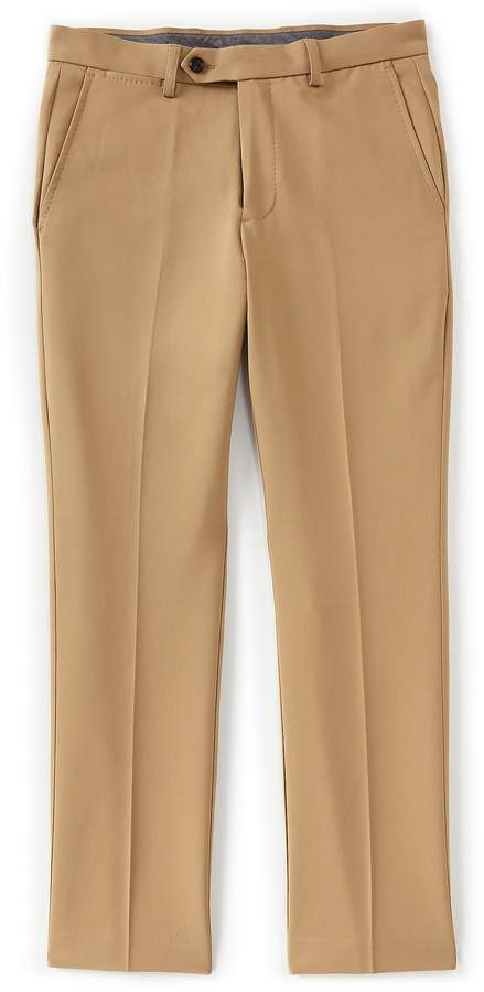Crosby & Howard Flat-Front Stretch Chino Pants
