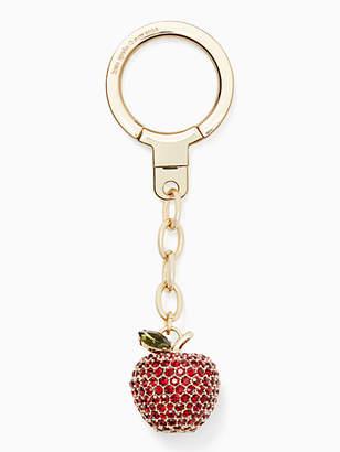 Kate Spade Jeweled apple keychain