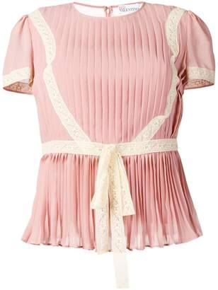 RED Valentino RED (V) pleated pintuck top