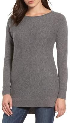 6f662fc9c5 Halogen High u002FLow Wool   Cashmere Tunic Sweater (Regular   Petite)