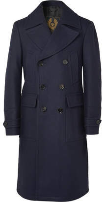 cd6cef94 Belstaff New Mildford Double-Breasted Padded Wool-Blend Overcoat