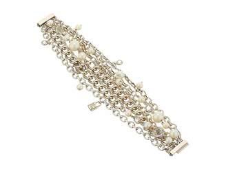 Lauren Ralph Lauren White Pearl Crest Bracelet