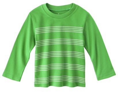 Circo Infant Toddler Boys' Long-Sleeve Striped Tee - Green 3T