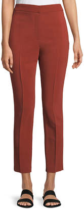 Rosetta Getty Cropped Skinny Stretch-Cady Pants