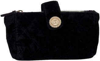 One Kings Lane Vintage Chanel Black Velvet Coin Pouch - Vintage Lux