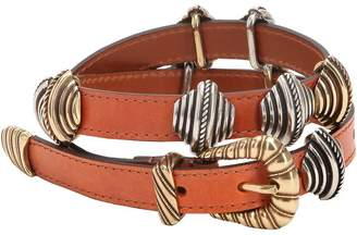 Etro Leather Belt W/ Sliding Metal Details