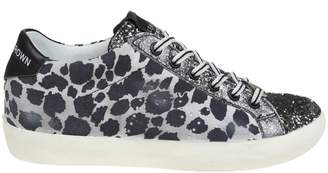 Leather Crown Leather Printed Sneakers