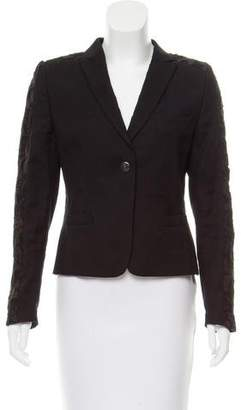 Dries Van Noten Lace-Accented Structured Blazer