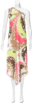 Emilio Pucci One-Shoulder Floral Nightgown