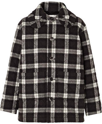 Balenciaga Scooter Quilted Checked Cotton-flannel Jacket - Black