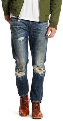 FIDELITY DENIM Torino Distressed Straight Leg Jean $240 thestylecure.com