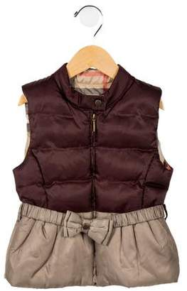 Burberry Girls' Quilted Vest
