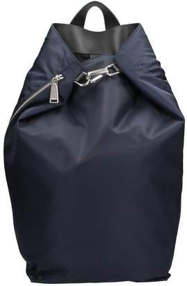 Jil Sander Blue Fabric Backpack
