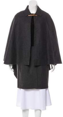 Valentino Wool and Suede Coat