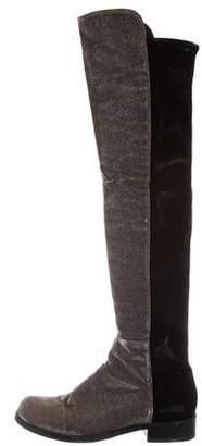 Stuart Weitzman Glitter Reserve Over-The-Knee Boots