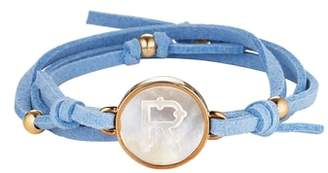 Asha Initial Suede Wrap Bracelet