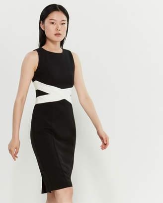 30045d1abb Vince Camuto Color Block Midi Pencil Dress