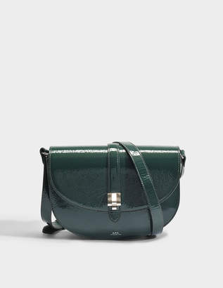 A.P.C. Isilde Bag in Forest Green Split Patent Leather