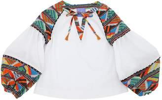 Stella Jean Maasai Cotton Muslin & Poplin Shirt