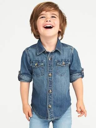Old Navy Denim Pocket Shirt for Toddler Boys