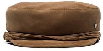 Maison Michel brown Abby suede sailor cap