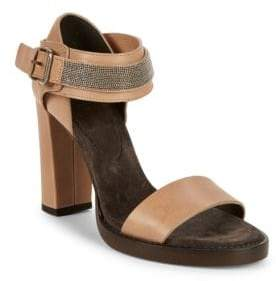 Brunello Cucinelli Metallic High-Heel Sandals