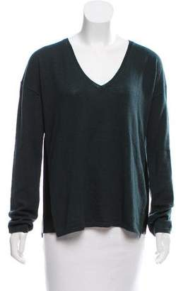 Zadig & Voltaire Leather-Accented Wool-Cashmere Sweater