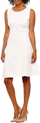 Evan Picone BLACK LABEL BY EVAN-PICONE Black Label by Evan-Picone Sleeveless Fit & Flare Dress