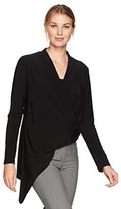 Karen Kane Women's Asymmetric Wrap Top