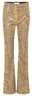 Chloé Python-printed leather trousers