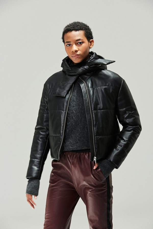 Veda Veda | Sharpe Leather Puffer Coat | Xl