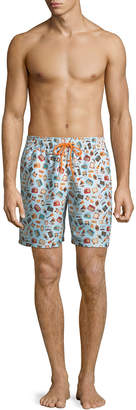 Blueport Swim Retro Print Swim Shorts