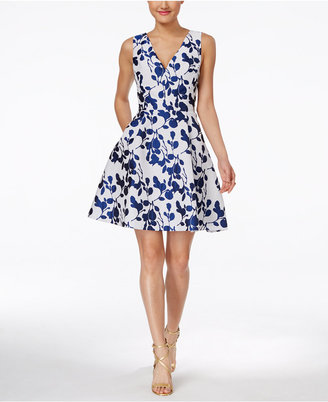 Betsey Johnson Floral-Print Fit & Flare Dress $148 thestylecure.com