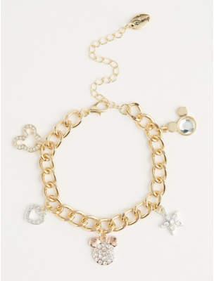 Disney Mickey Mouse Diamante Charm Bracelet