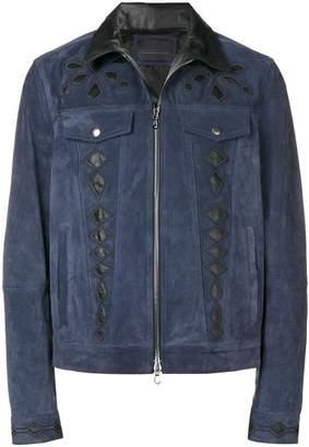 Diesel Black Gold suede jacket with nappa inlays