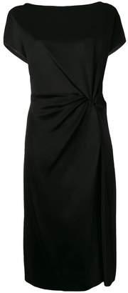 Lanvin ruched side slit mini dress