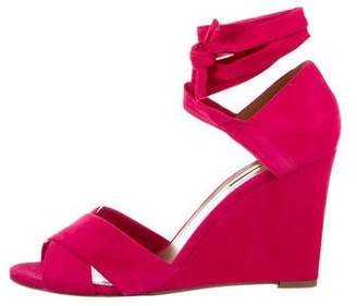Aquazzura Crossover Wedge Sandals