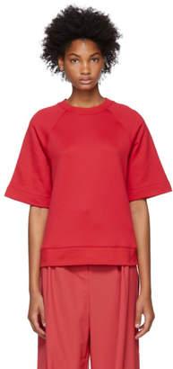 Tibi Red Short Sleeve Sweatshirt