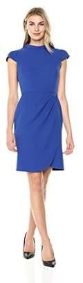 Lark & Ro Women's Mockneck Ruched Dress