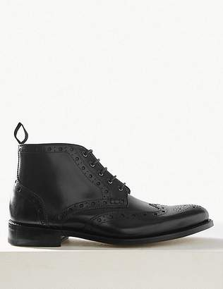 Marks and Spencer Leather Lace-up Brogue Shoes