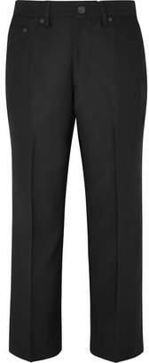 Marc Jacobs Cropped Twill Straight-leg Pants - Black