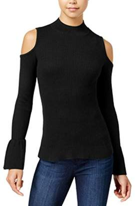 Amy Byer A. Byer Junior's Long Sleeve Cold Shoulder Sweater