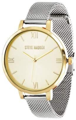 Steve Madden Women's Quartz Mesh Bracelet Watch, 39mm