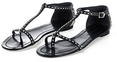 Sigerson Morrison Weave T-Strap Sandal