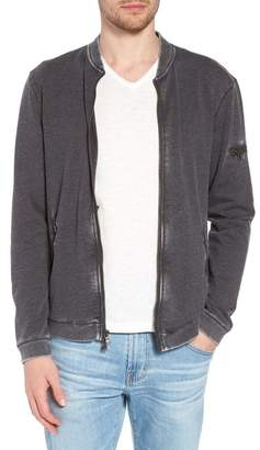 John Varvatos Burnout French Terry Zip Sweater