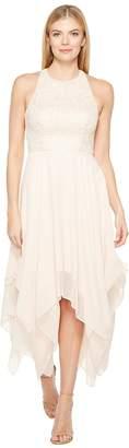 Aidan Mattox Jacquard Draped Chiffon Dress Women's Dress