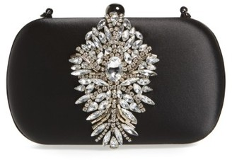 Badgley Mischka Aurora Clutch - Black $199 thestylecure.com