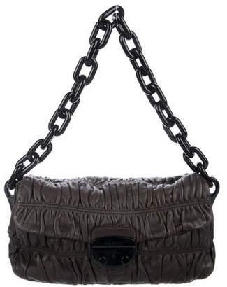 Prada Leather Flap Chain Bag - ShopStyle af2ddd709c